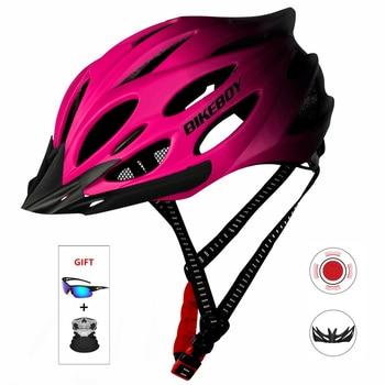 Bicicleta ciclismo capacete ultraleve capacete intergralmente moldado mountain road bike safty respirável capacete para homem feminino 1