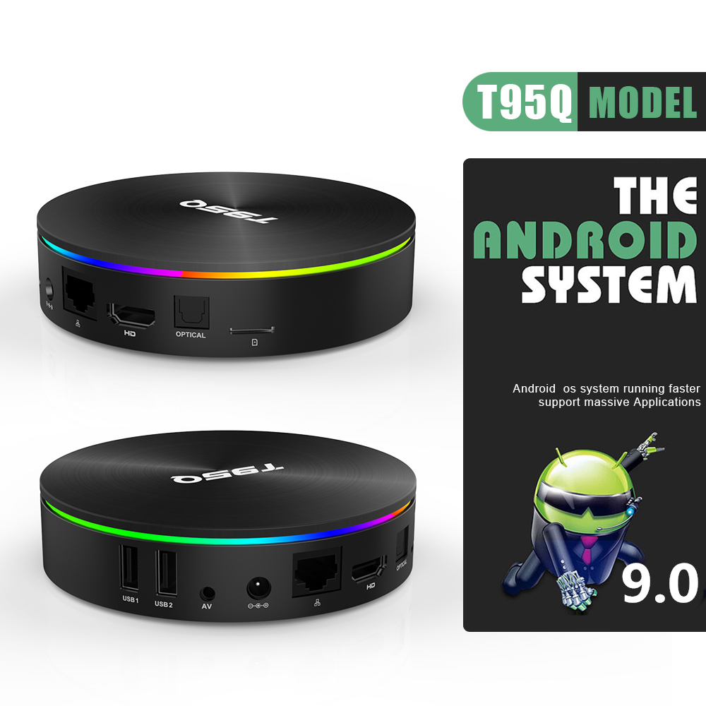 Android 9.0 décodeur T95Q TVBOX 4GB 64GB Android 8.1 Amlogic S905X2 TV Box QuadCore 2.4GHz 5GHz double wifi BT4.1100M 1000M - 3