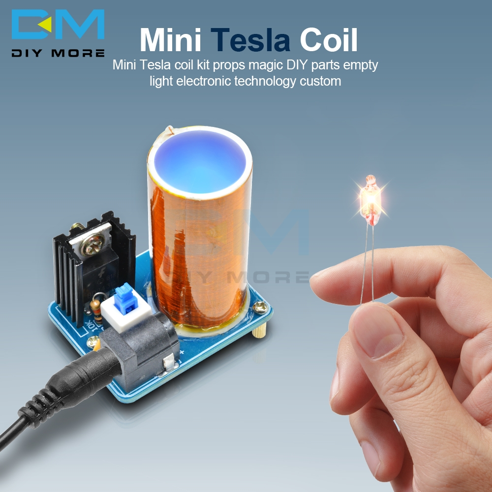 <font><b>BD243</b></font> <font><b>BD243C</b></font> Mini Tesla Coil Magic Props Empty Lights Technology Electronic Kit image