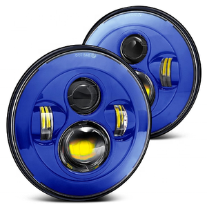 motorcycle headlight 7 led hea