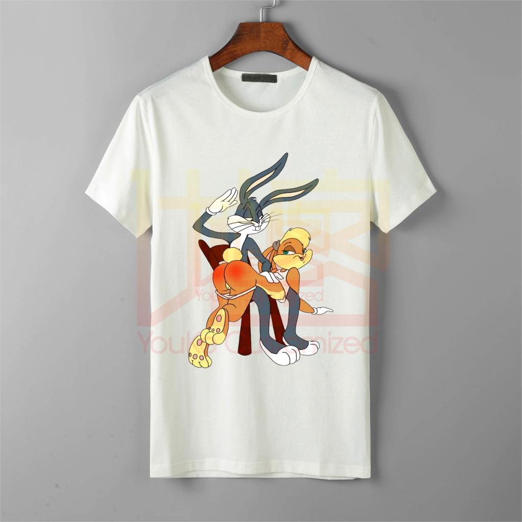 new funny bugs lola bunny cartoon <font><b>punishment</b></font> <font><b>t</b></font> <font><b>shirt</b></font> men's hot selling 100% cotton printed high quality brand unisex <font><b>t</b></font>-<font><b>shirt</b></font> image