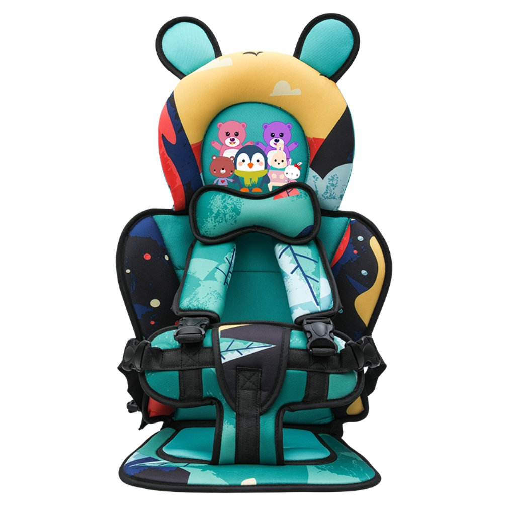 Child Baby safety Car Seat Portable Car Cartoon Pattern Child Safety Seat with Strap 6 mons 7 years old Seat Cushion