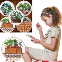 Diy Кактус узоры вышивка Завод серии ручной работы начинающих
