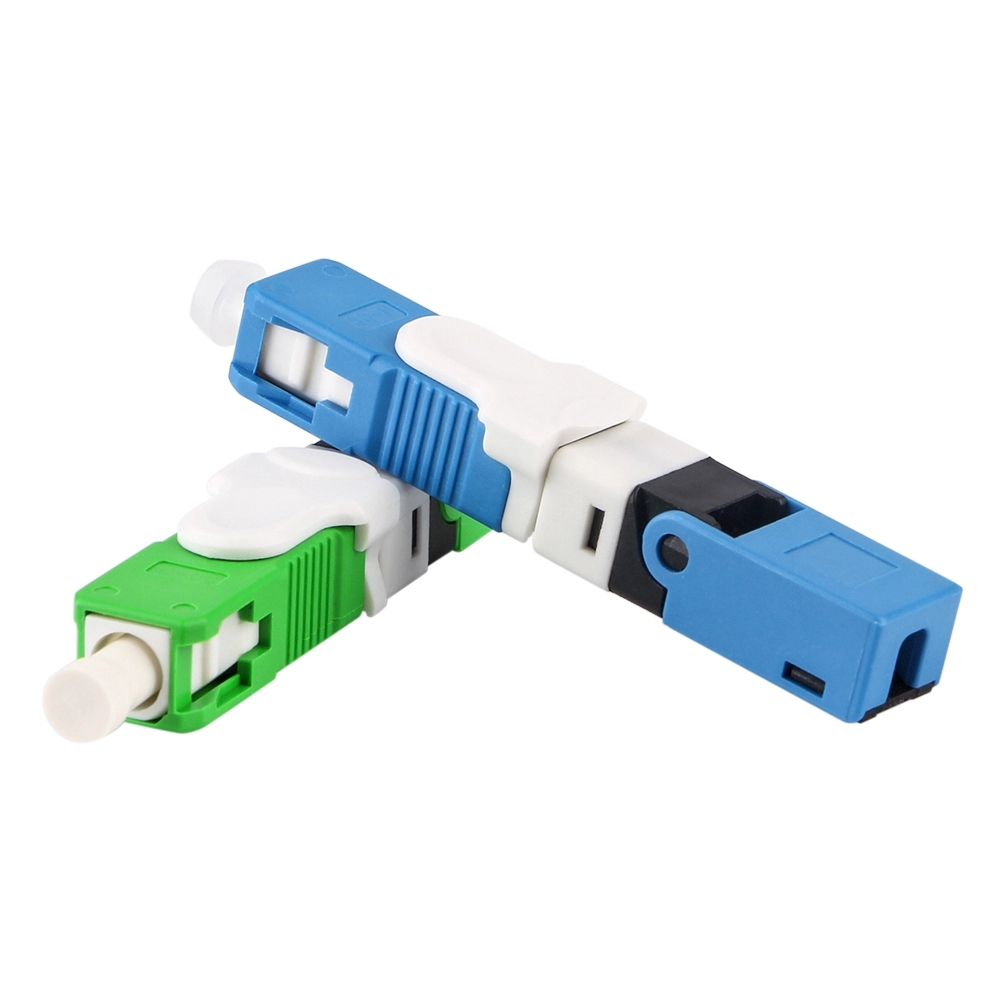 ESC250D 100pcs Fast Connector SC APC Field Assembly Quick Conector SC APC Fiber Optic Fast Connector