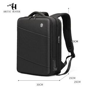 Image 5 - ARCTIC HUNTER Brand Male 15.6 inch Laptop Backpack Man USB Recharging Multi layer High capacity Travel Bag backpacks 2020 New