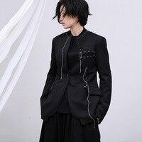 Loose Fit Black Line Split Joint Short Jacket New Lapel Long Sleeve Women Coat Fashion Tide utumn Winter 2020 1749