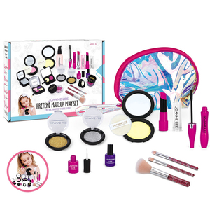 Image 4 - Girls Make Up Toy Set Pretend Play Princess Pink Makeup Beauty Safety Non toxic Kit Toys for Girls Dressing Cosmetic Travel Bag
