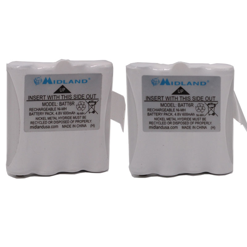 BATT6R Ni-MH Battery For Midland Radio LXT-325 M48 M99 G6XT LXT-276 LXT-314 LXT-317 LXT318 LXT-319 LXT-320 LXT-322 LXT440 LXT460