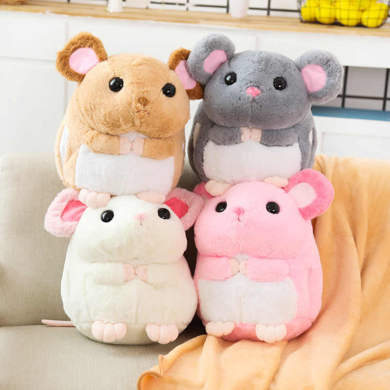 Mignon souris en peluche oreiller couette double usage bureau dossier oreiller 3 en 1 climatiseur coussin magique couverture pour la pause déjeuner
