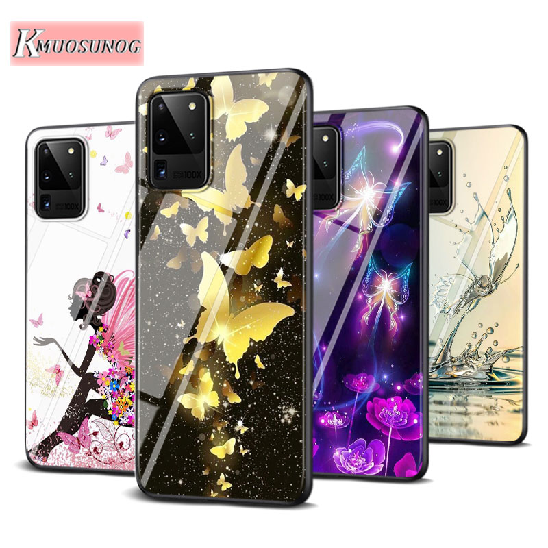 Colorful Butterfly for Samsung Galaxy Note 10 Lite S20Ultra S20 Plus A01 A21 A51 A71 A81 A91 Super Bright Phone Case