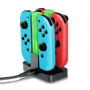 Nintend Accessories Joy-con Controller Dual LED Charger Joystick Charger Stand Holder For Nintendo Switch NS Joycon Joystick