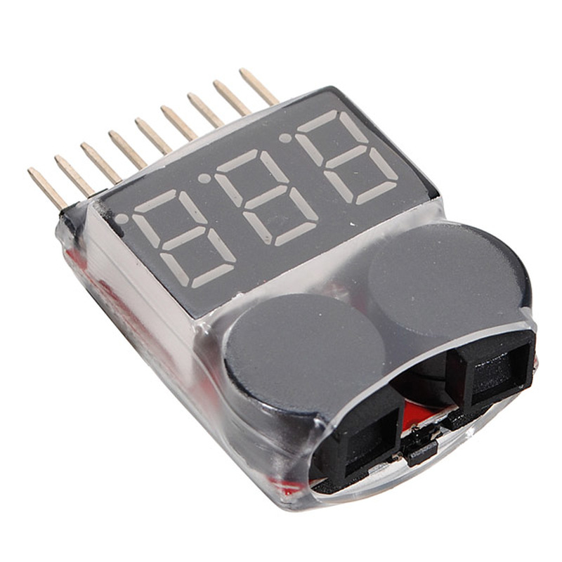1S-8S Battery Voltage Meter Tester Lipo Battery Monitor Buzzer Alarm For RC Drone Helicopter