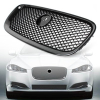 For Jaguar XF XFR X250 Car Front Grille Upper Mesh Grill 2012 2013 2014 2015 Gloss Black ABS