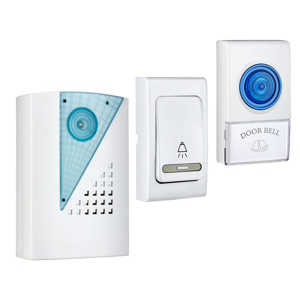 LED  Wireless Chime Door Bell Doorbell &Remote Control Welcome Simple White Home Security Use Smart Door Bell