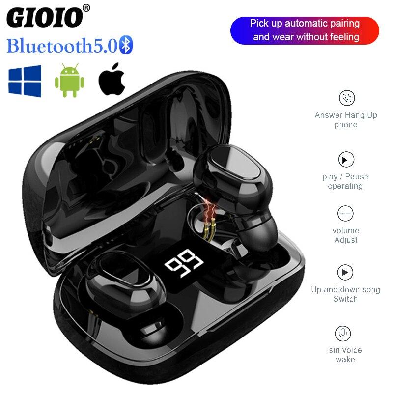 Tws mini l21 pro fones de ouvido esportes sem fio à prova dwaterproof água estéreo surround som funciona em todos os smartphones fone de ouvido bluetooth