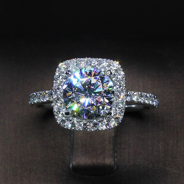 40 Style Lovers Lab Diamond Cz Promise Ring 925 Sterling Silver Engagement Wedding Band Rings for women men Party Jewelry Gift