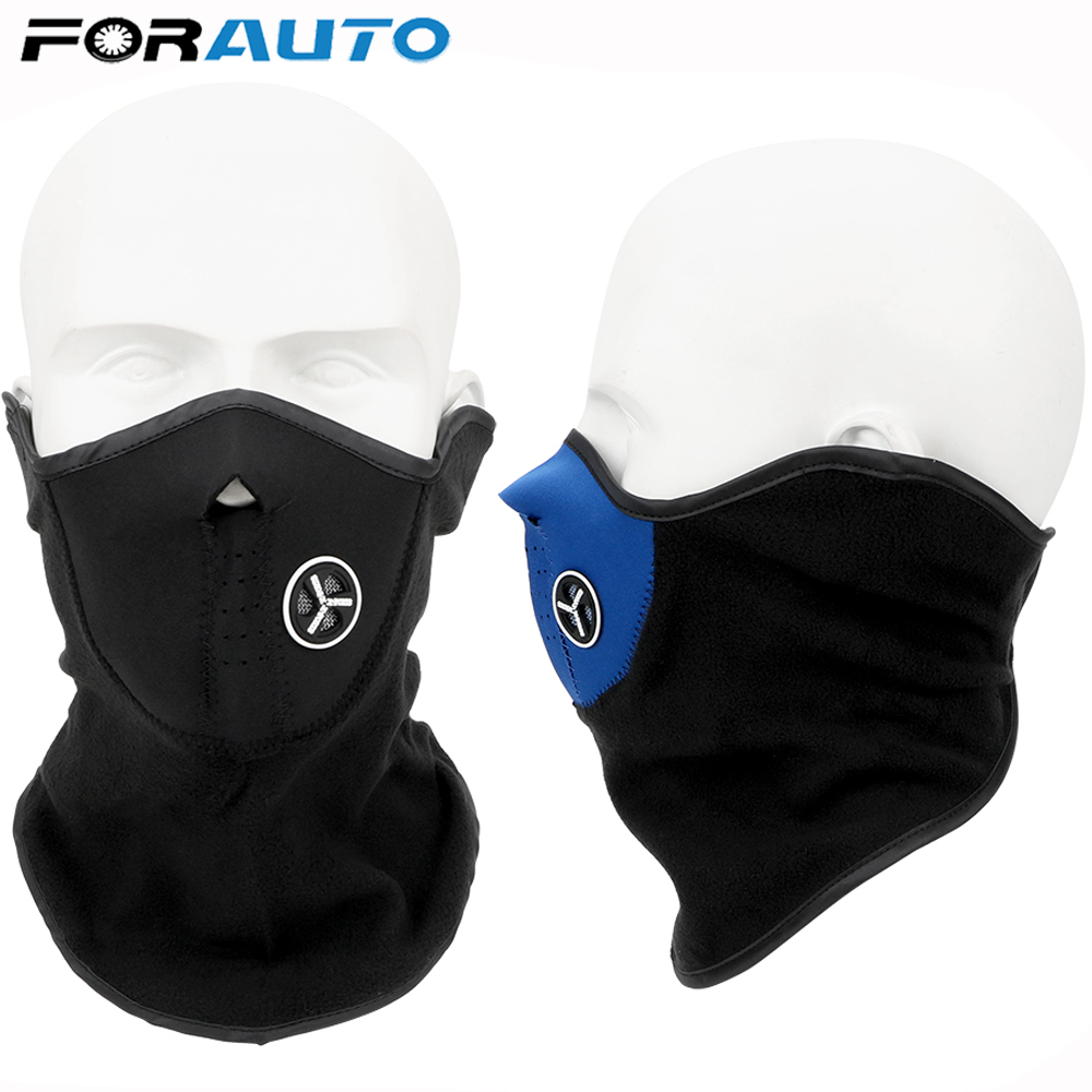 FORAUTO Motorcycle Face Mask Outdoor Sports Neck Protecting Motorcycle Half Face Mask Cover Balaclava Warm Winter Ski Snow Scarf