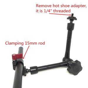 """Image 3 - Jadkinsta 11 """"Cal przegubowe magiczne ramię + 15mm zacisk pręta + duży Super zacisk duże szczypce krabowe klip Monitor HDMI LED Light"""