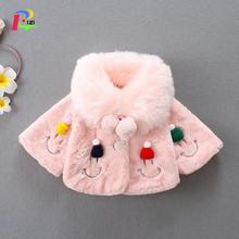 Girl Winter Jacket Kids Coat 2019 New Winter Faux Fur Fleece Coat Pageant Warm