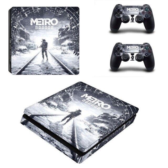 메트로 Exodus PS4 슬림 스킨 스티커 데칼 비닐 Dualshock 플레이 스테이션 4 콘솔 & 컨트롤러 PS4 슬림 스킨 스티커 비닐