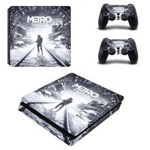 Metro Exodus PS4 Slim Skin Sticker Decal Vinyl for Dualshock Playstation 4 Console & Controller PS4 Slim Skins Sticker Vinyl