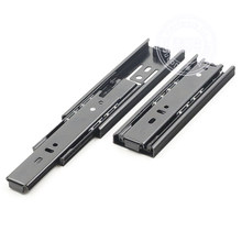 4-inch 3 Sections Telescoping Ball Bearing Damper Drawer Slide Silver Tone 1 Pair Dresser Steel Ball Rail