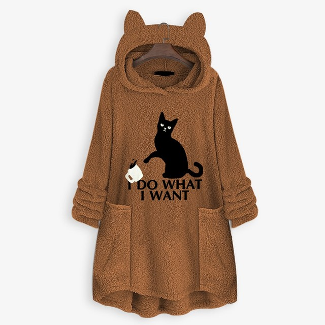 OVERSIZE HOODIE WITH CAT EARS 4