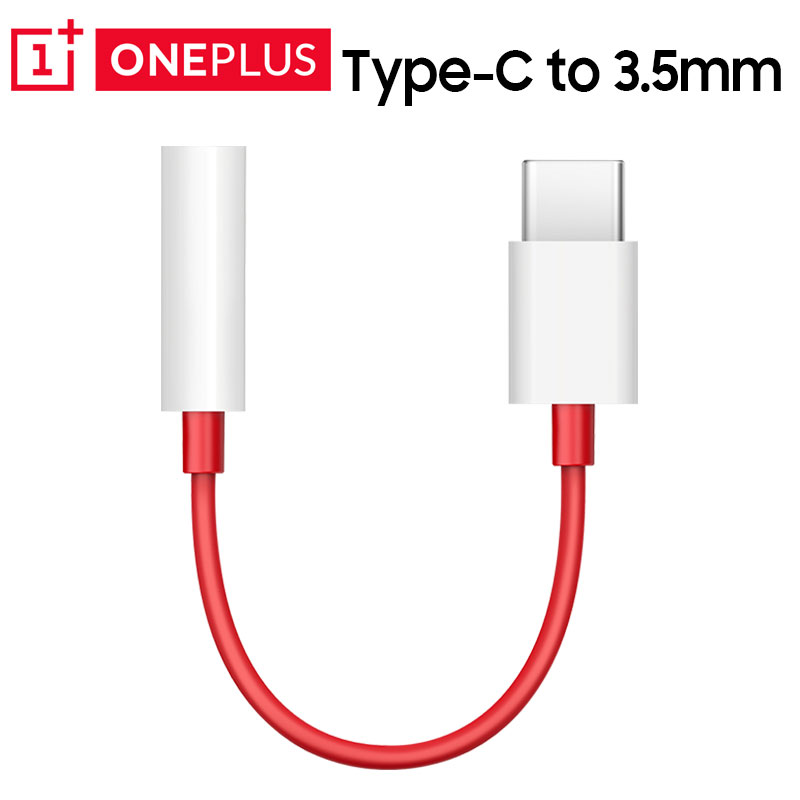 Original Oneplus 6T 7 Pro USB Type C To 3.5mm Aux Audio Adapter 3.5 Jack Earphone Cable Compatible Huawei P10 P20 Mi 6 8 Cable