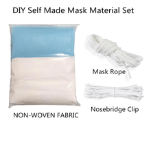 DC 1m 10Set DIY Homemade Mask Material Kit 3 Layers Dustproof Mask Anti-Dust Face Mouth Mask Earloop Facial Protective Face Mask