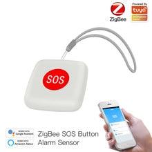 Tuya zigbee sos botão sensor de alarme idosos à prova delderly água emergência botão pânico tuya vida inteligente app controle remoto