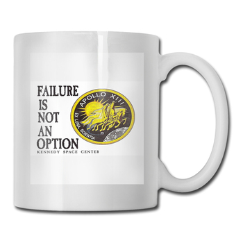 Apollo 11 - Failure Is Not An Option Steampunk Holiday Western Style Wholesale Rock Pattern Boy Mug Cup 1