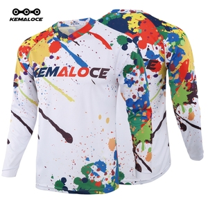 KEMALOCE Long Sleeve MTB Jersey Anti-Pilling Unisex MTB T Shirts Men Motocross Clothing Full 2020 Cycling BMX Sports Dh Jersey