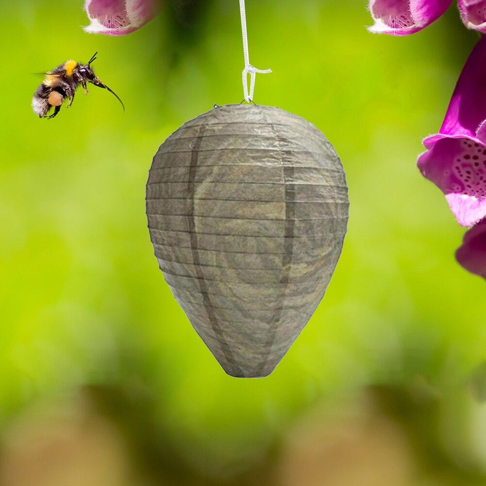Asılı Wasp arılar tuzak güvenli caydırıcı kovucu sinek böcek simüle Wasp yuva ev bahçe yakalama elemanları