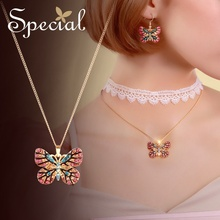 Special Fashion Romantic Lace Maxi Necklace Butterfly Choker Necklace Rhinestones Pendants Jewelry Gifts for Women S2747N lace choker necklace set