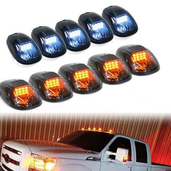 Led Car Lights Cab Marker Roof 12LED Light F150 Pickup Truck Light Dodge RAM Headlight For Trailer Truck Pickup Yellow Blue md628053 idle speed air control valve for mmitsubishi 3000gt dodge pickup truck 3 0l v6 kia sorent md614282 md614381 35103 3303