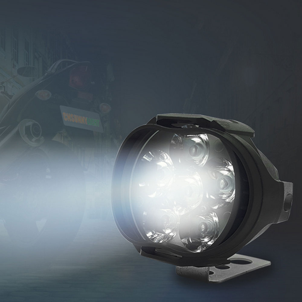 Motorcycle Led Light Led Motorcycle Headlight Mirror Mount Driving Fog Spot Head Light Spotlight Lamp Motorcycle Spotlight image