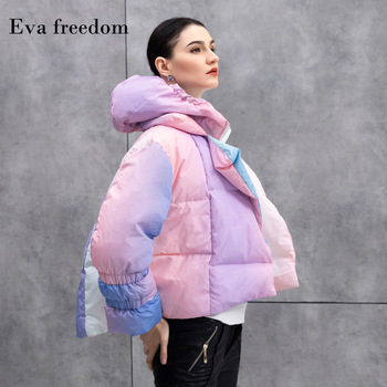 2019-2020 winter warm down jacket hooded women iridescence literary fashion lovely girls short down coat hooded AC1066