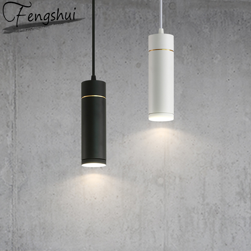 Nordic Modern LED Pendant Lights Cylinder Model Iron Pendant Lamp Bedside Kids Room Bedside Lights Fixture Luminaire Luminaria