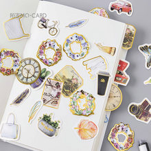 20 упаковок/партия цветы бронзовые мини Васи бумажные наклейки