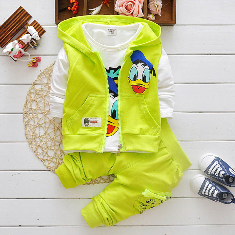 Boys Clothes Suits Cartoon Baby Kids Boys Outerwear Hoodie Jacket Baby Sport Boys Clothing Sets Suits 1