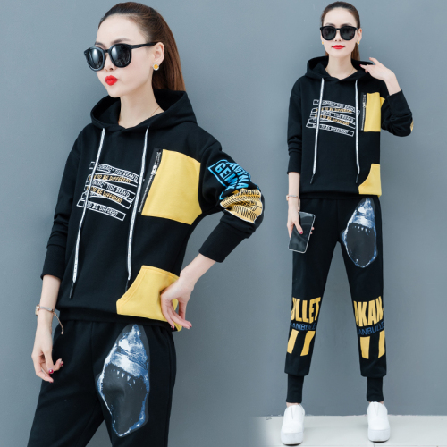Casual Tracksuit For Women Two Piece Outfits Ensemble Femme 2 Piece Sets Womens Outfits Letter Women's Tracksuits Top&pants Set
