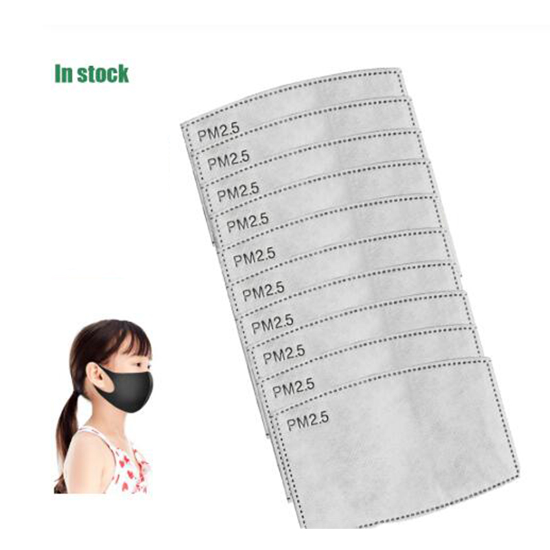 200pcs/Lot Kids 5 Layers PM2.5 Filter Paper Anti Haze Mouth Mask Non-woven Activated Carbon Filter Paper