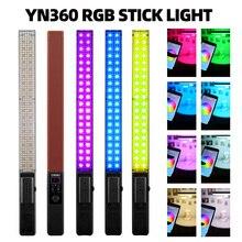 YONGNUO YN360 כף יד LED וידאו אור 3200k 5500k RGB צבעוני 39.5CM קרח מקל מקצועי תמונה LED מקל (רק led אור)