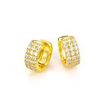 Новые модные блестящие круглые серьги кольца с фианитами для