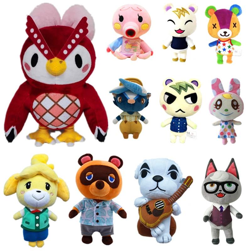20cm 28cm Animal Crossing Plush Toy Cartoon Raymond Free Give Away 1pcs Amiibo Card Jingjiang Doll KK Isabelle Plush Toys