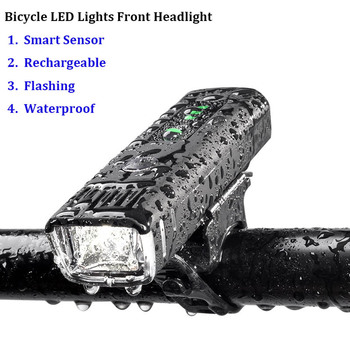 Bicycle Light Waterproof USB Rechargeable Front LED Bike Lights Cycling Lamp Torch Handlebar Flashlight Bike Accessories usb rechargeable bike light 300 lumen 3 mode bicycle front light lamp bike headlight cycling led flashlight lantern
