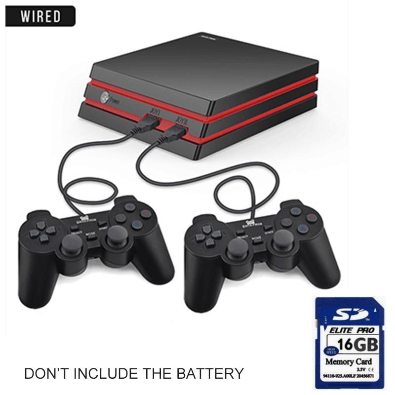 Игровая консоль-лягушка с 2,4G беспроводным контроллером HDMI, видео игровая консоль 600, классические игры для GBA family tv, Ретро игры - Цвет: Wired with card