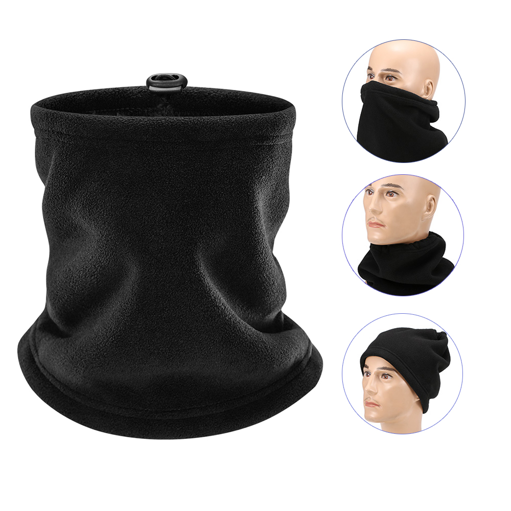 Outdoor Neck Gaiter Warm Face Mask Hat Winter Sports Windproof UV Protection Thermal Neck Warmer Mask Bike Running Beanie Cap