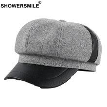 Женская шерстяная шапка showersmile винтажная Кепка в елочку