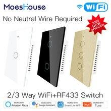 Light-Switch Tuya No-Neutral-Wire Wifi Smart Alexa-Google Home RF433 App-Control